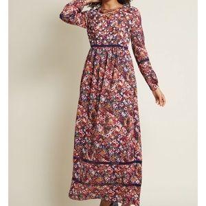 ModCloth Ravishing Matters Floral Maxi Dress, Sz M